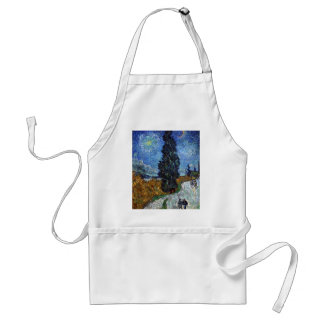 Vincent Van Gogh Country road in Provence by Night Standard Apron