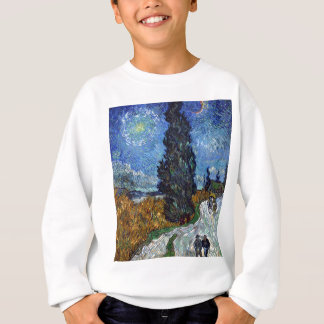 Vincent Van Gogh Country road in Provence by Night Sweatshirt