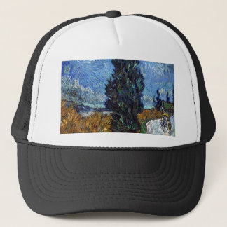 Vincent Van Gogh Country road in Provence by Night Trucker Hat