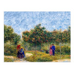 Vincent Van Gogh - Courting Couples In The Park Postcard