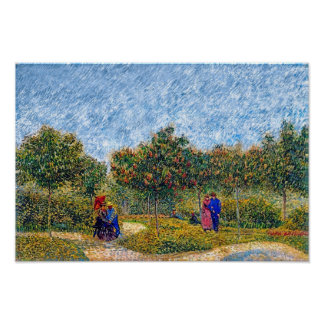 Vincent Van Gogh - Courting Couples In The Park Poster