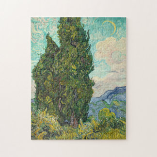 Vincent Van Gogh Cypresses Jigsaw Puzzle