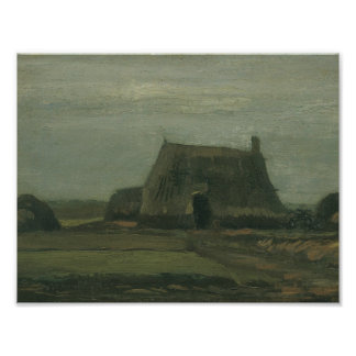Vincent van Gogh - Farm with Stacks of Peat Photographic Print