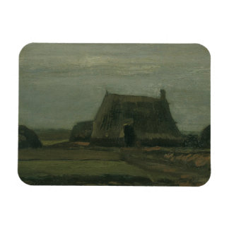 Vincent van Gogh - Farm with Stacks of Peat Rectangular Photo Magnet