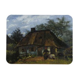 Vincent van Gogh - Farmhouse in Nuenen Rectangular Photo Magnet
