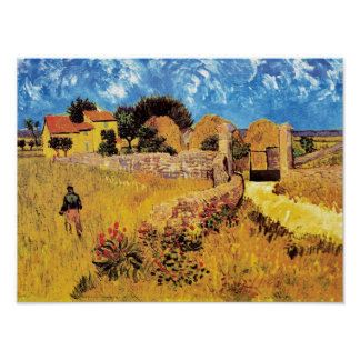 Vincent Van Gogh - Farmhouse In Provence Fine Art Poster