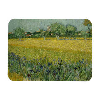 Vincent van Gogh - Field with Flowers Near Arles Rectangular Photo Magnet
