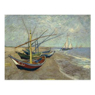 Vincent van Gogh - Fishing Boats on the Beach Postcard