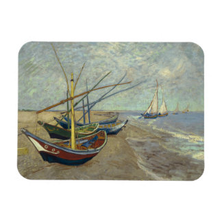 Vincent van Gogh - Fishing Boats on the Beach Rectangular Photo Magnet