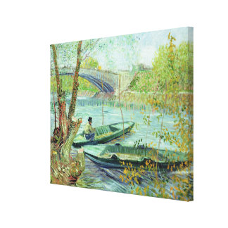 Vincent van Gogh | Fishing in the Spring Canvas Print