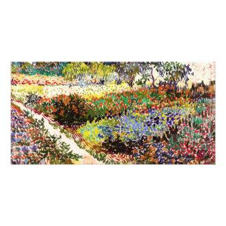 Vincent Van Gogh Flowering Garden Floral Fine Art Photo Card