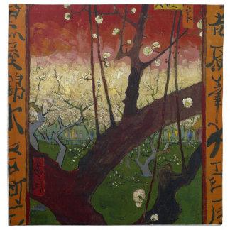 Vincent Van Gogh Flowering Plum Tree Art work Napkin
