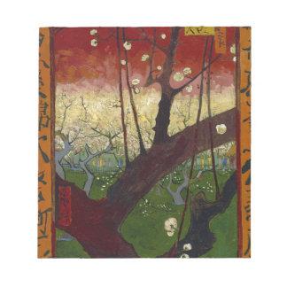 Vincent Van Gogh Flowering Plum Tree Art work Notepad