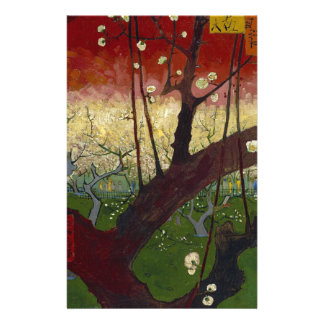 Vincent Van Gogh Flowering Plum Tree Art work Personalized Stationery