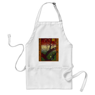 Vincent Van Gogh Flowering Plum Tree Art work Standard Apron