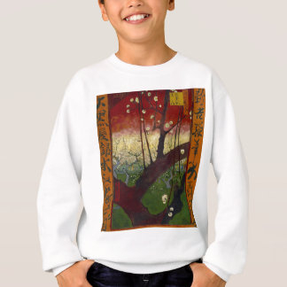 Vincent Van Gogh Flowering Plum Tree Art work Sweatshirt
