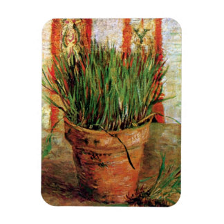Vincent Van Gogh - Flowerpot With Chives Rectangular Photo Magnet