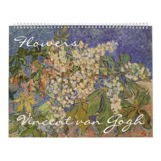 Vincent van Gogh Flowers, Post Impressionism Art Wall Calendar