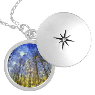 Vincent Van Gogh Forest Art Locket Necklace