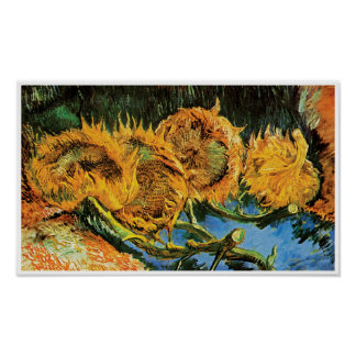 Vincent Van Gogh - Four Cut Sunflowers Fine Art Poster