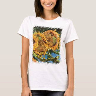 Vincent Van Gogh - Four Cut Sunflowers Fine Art T-Shirt