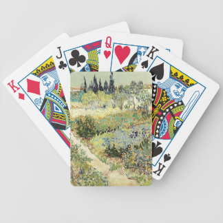 Vincent Van Gogh Garden at Arles Bicycle Playing Cards