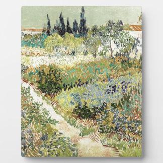 Vincent Van Gogh Garden at Arles Plaque