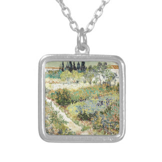 Vincent Van Gogh Garden at Arles Silver Plated Necklace