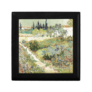 Vincent Van Gogh Garden at Arles Small Square Gift Box