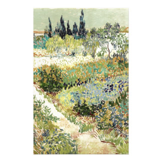 Vincent Van Gogh Garden at Arles Stationery