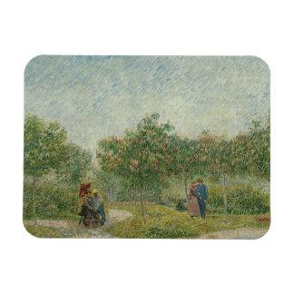 Vincent van Gogh - Garden in Montmarte Rectangular Photo Magnet