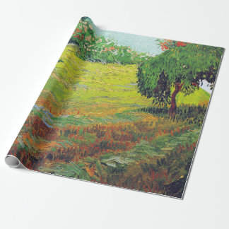 Vincent van Gogh Garden with Weeping Willow Wrapping Paper
