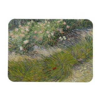 Vincent van Gogh - Grass and Butterflies Rectangular Photo Magnet