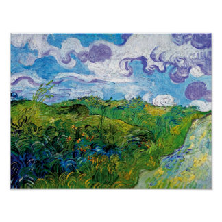 Vincent Van Gogh - Green Wheat Fields In Auvers Poster