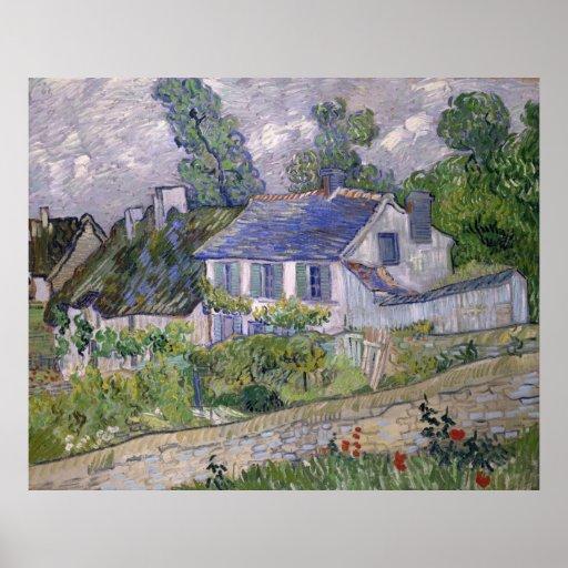 Vincent van Gogh - Houses at Auvers Print