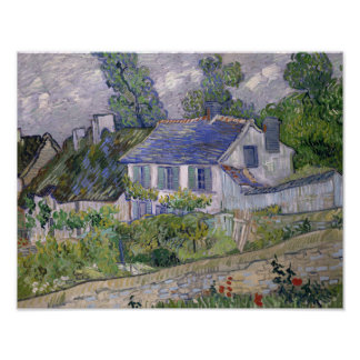 Vincent van Gogh - Houses at Auvers Poster