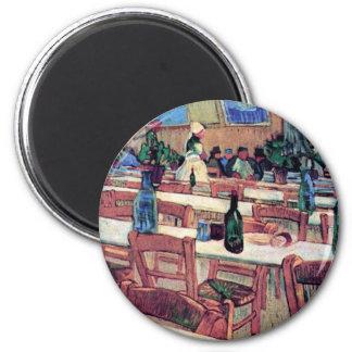 Vincent Van Gogh - Interior Of Restaurant 6 Cm Round Magnet