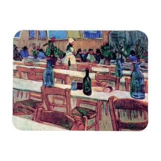 Vincent Van Gogh - Interior Of Restaurant Rectangular Photo Magnet