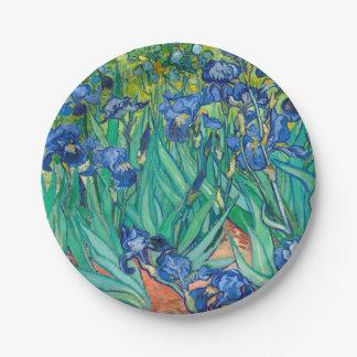 VINCENT VAN GOGH - Irises 1889 7 Inch Paper Plate