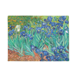VINCENT VAN GOGH - Irises 1889 Doormat