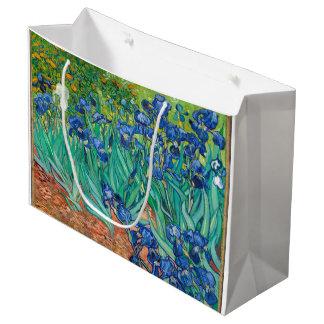 VINCENT VAN GOGH - Irises 1889 Large Gift Bag