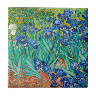 VINCENT VAN GOGH - Irises 1889 Small Square Tile
