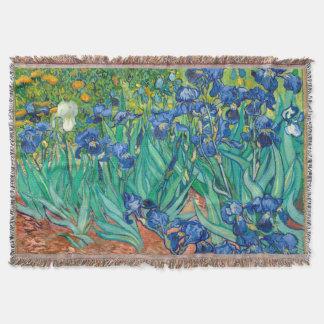 VINCENT VAN GOGH - Irises 1889 Throw Blanket
