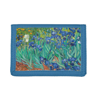 VINCENT VAN GOGH - Irises 1889 Trifold Wallets