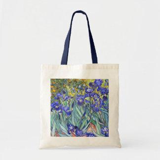 Vincent Van Gogh Irises Floral Vintage Fine Art Tote Bag