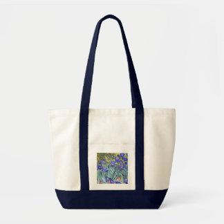 Vincent Van Gogh Irises Floral Vintage Fine Art Canvas Bags