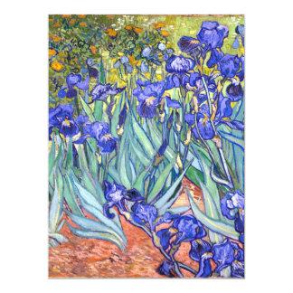 Vincent Van Gogh Irises Floral Vintage Fine Art Custom Announcement