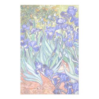 Vincent Van Gogh Irises Floral Vintage Fine Art Personalized Stationery