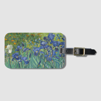 Vincent van Gogh Irises GalleryHD Fine Art Luggage Tag