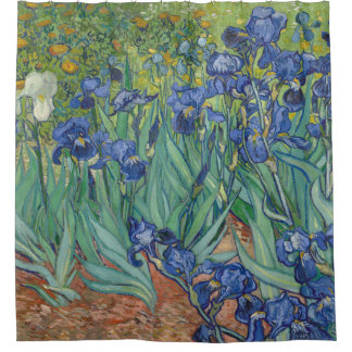 Vincent van Gogh Irises GalleryHD Fine Art Shower Curtain
